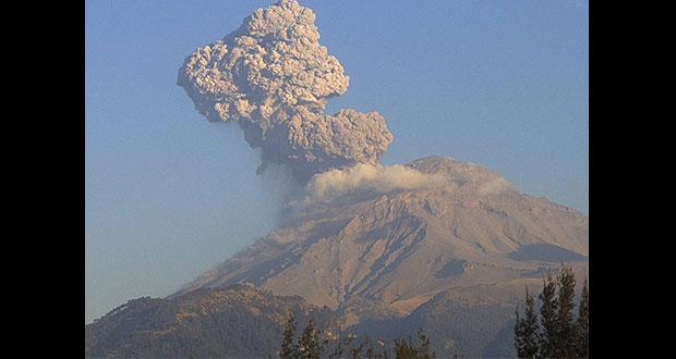 Por segunda vez en una semana, el Popocatépetl registra fuerte explosión
