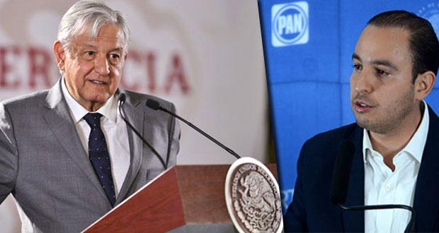 "AMLO crítica a Marko Cortes por ""advertir su reelección"" a OEA"