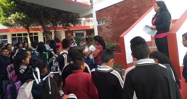 Acusan robo a tres escuelas de Amozoc y exigen reforzar seguridad