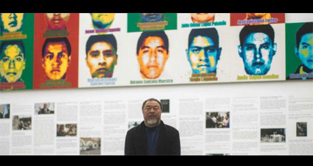 Ai Weiwei, artista chino dedica mural a los 43 de Ayotzinapa
