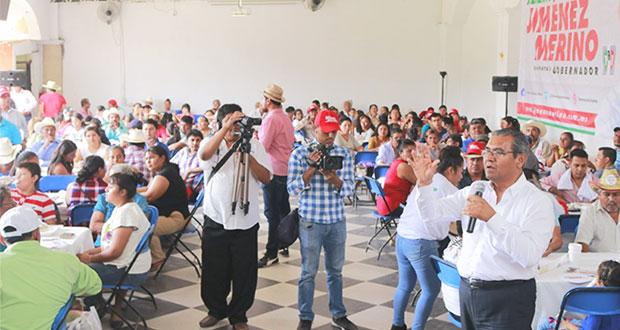 En Mixteca, Jiménez propone entubar presa Peña Colorada y sanear río Tiza