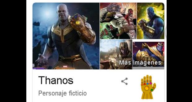 "¿Ya viste lo que pasa cuando buscas a ""Thanos"" en Google?"