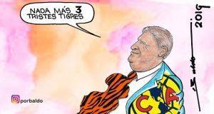 Caricatura: El piojo Herrera se lleva de corbata a Tigres