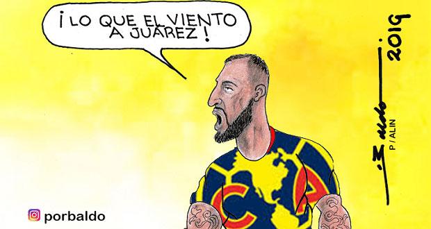 Caricatura: Lo que el viento a Juárez