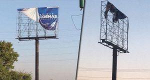 Destruyen espectaculares míos en autopista y periférico: Cárdenas