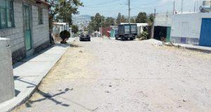 En colonia Patria Nueva, piden segunda etapa de pavimentación