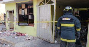 Explosión de tanque de gas deja tres heridos en Hueyotlipan