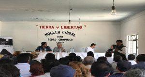 En Chapulco, foro alerta sobre riesgos de parque eólico PIER