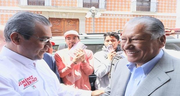 Melquiades Morales refrenda apoyo a Jiménez