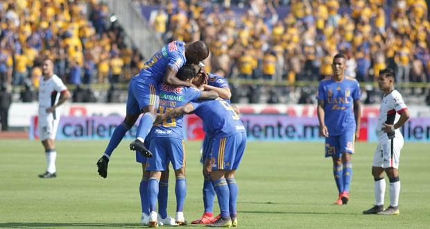 Lobos BUAP cae goleado ante Tigres