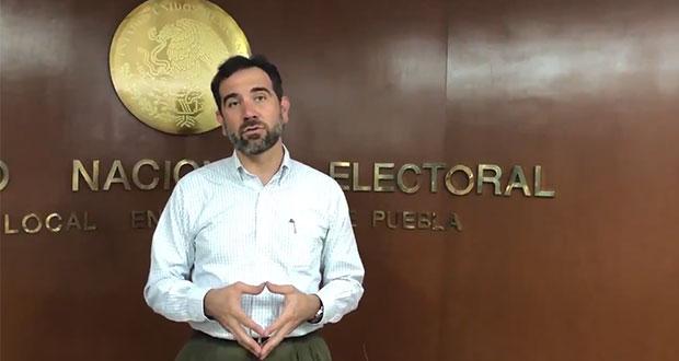 INE estará atento contra uso electoral de apoyos en Puebla: Córdova