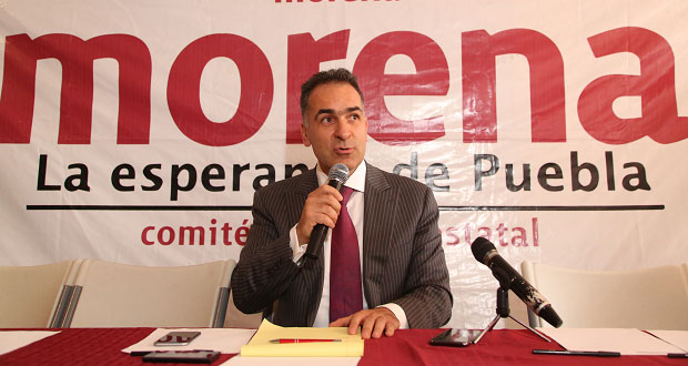 Morena en Puebla, sin pedir expulsión de Armenta: delegado