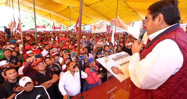 Es momento de unificarnos, dice Barbosa en Huejotzingo