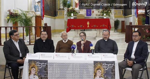 Niño Doctor en procesión de Viernes Santo en Puebla