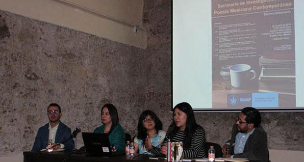Realizan jornada de seminario sobre poesía mexicana en la BUAP