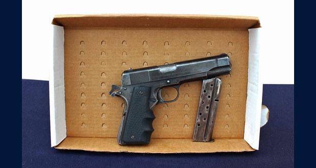 Ssptm detiene a menor de edad por portación de arma y cartuchos