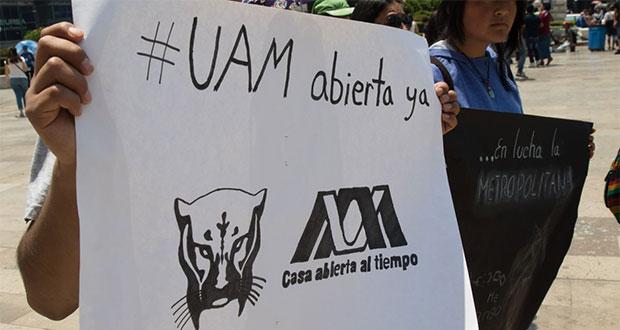 """""""¡UAM abierta ya!"""", exigen alumnos y docentes a 84 días de huelga"""