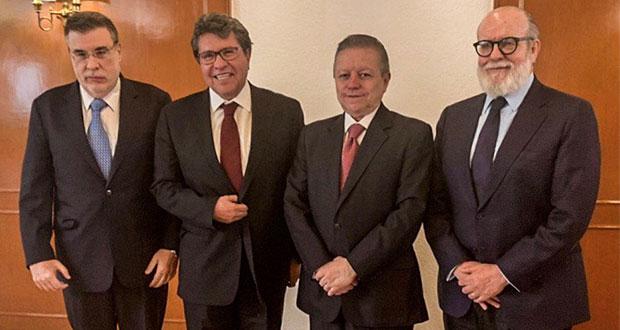 Con Zaldívar, Monreal analiza 3ª sala en SCJN y desaparecer CJF