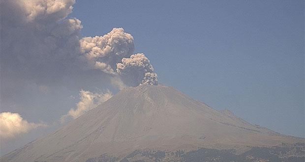Reportan baja en actividad del Popocatépetl con 16 exhalaciones