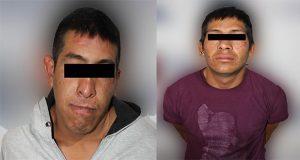 Detienen a dos hombres y un menor por robo a ruta Azteca
