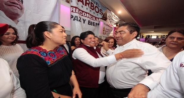 Puebla estará a la vanguardia en derechos de mujeres: Barbosa