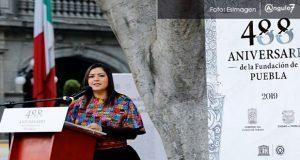 En 488 aniversario de la fundación de Puebla, Rivera llama a la unidad