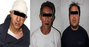 Detiene a tres por robo a casa y portación ilegal de arma