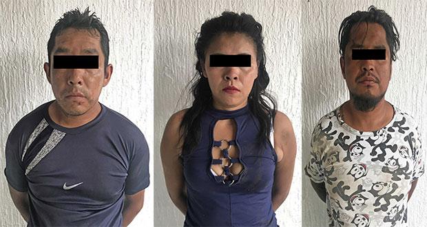 Por robo a repartidores de Coca Cola, detienen a 3 en Xonacatepec