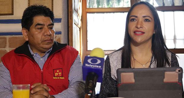 Tras ratificación en INE, PT refrenda apoyo a campaña de Barbosa