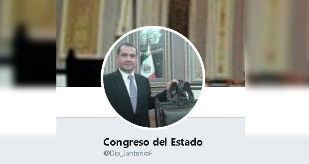 Congreso de Puebla advierte sobre cuenta de falso diputado
