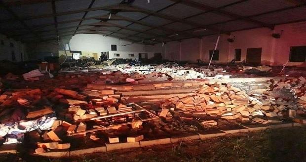 Iglesia en Sudáfrica se derrumba y deja al menos 13 muertos