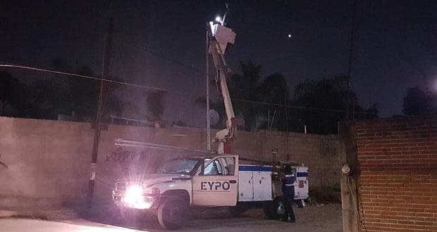 Antorcha logra instalación de lámparas en Independencia Caleras