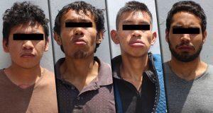 Caen 4 por robo a transporte público en 2 colonias de Puebla capital