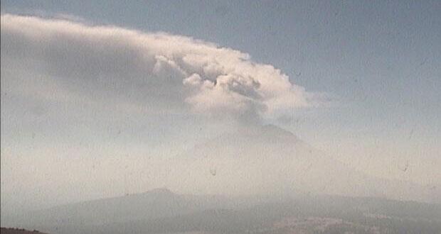 Popocatépetl tuvo 41 exhalaciones de vapor de agua, gas y ceniza: PC