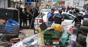 Ejército y Ssptm catean locales de mercados Hidalgo y Unión