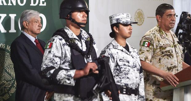 AMLO presentará el jueves al comandante de la Guardia Nacional