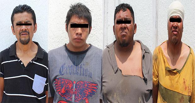 Detienen a cuatro por robo a transeúnte y transporte público