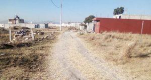 Con apoyo de Antorcha, vecinos de Santa Catarina piden drenaje