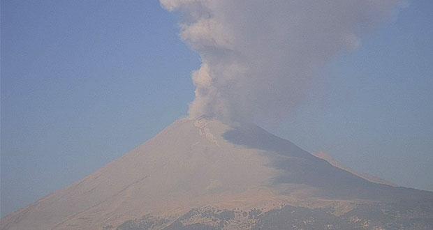 Popocatépetl registra desgasificación y sólo 11 exhalaciones: PC