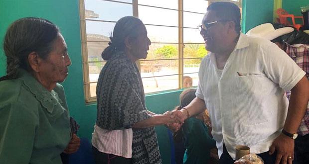 Afirma diputado antorchista que trabajará a favor de adultos mayores