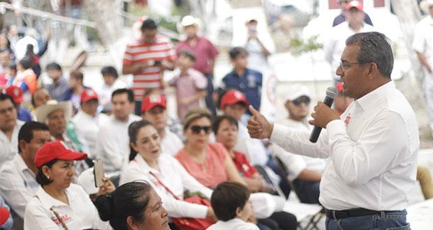 Mejoraré seguridad para fortalecer comercio en Tecamachalco: Jiménez