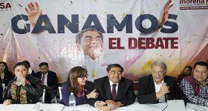 El candidato de MORENA, PT y PVEM, Miguel Barbosa, se declaró ganador absoluto del debate electoral 2019