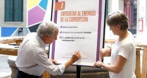 """Cárdenas firma 6 compromisos para ganar """"nueva batalla de Puebla"""""""