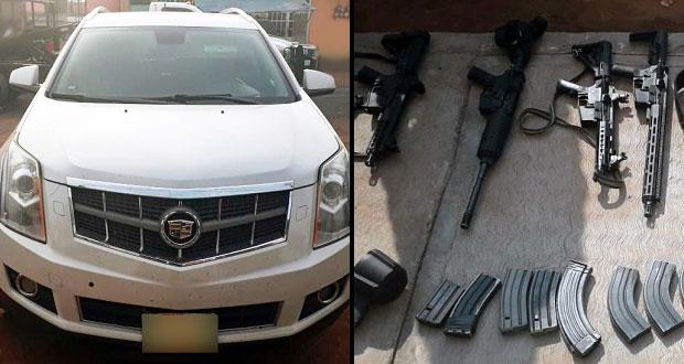 Cae presunto grupo delictivo de la Sierra Norte que transportaba arsenal