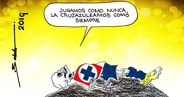 Caricatura: Costumbre o tradición, lo de Cruz Azul