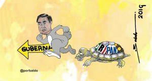 """Caricatura: El conejo moreno y la tortuga """"fifi"""""""