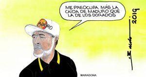 Caricatura: Las prioridades de Diego