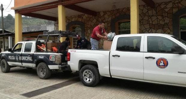 Dan kits para combatir incendios a brigadistas de Sierra Norte