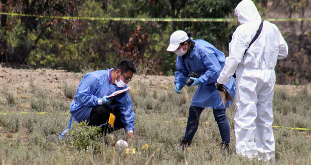 En Xonacatepec, localizan cráneo en terreno