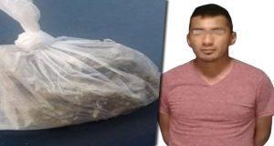 Policía Estatal detiene en Huejotzingo a supuesto vendedor de drogas